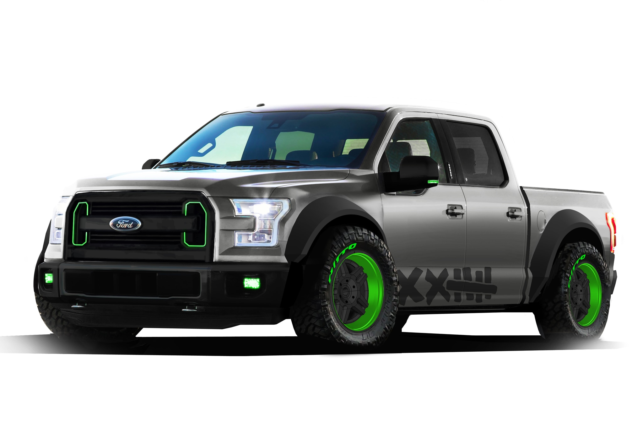 2015 Ford F 150 Vaughn Gittin Jr At 2014 SEMA Front Three Quarter 02
