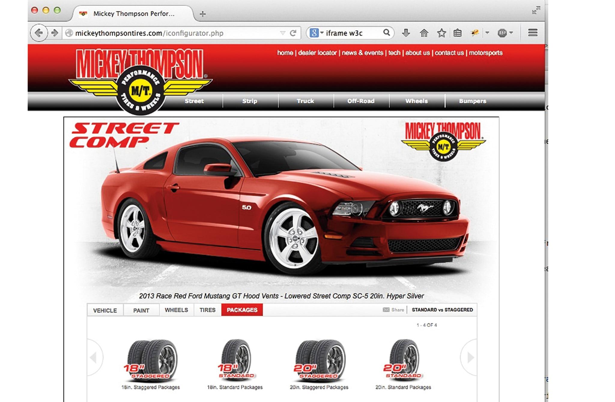 Mickey Thompon Website