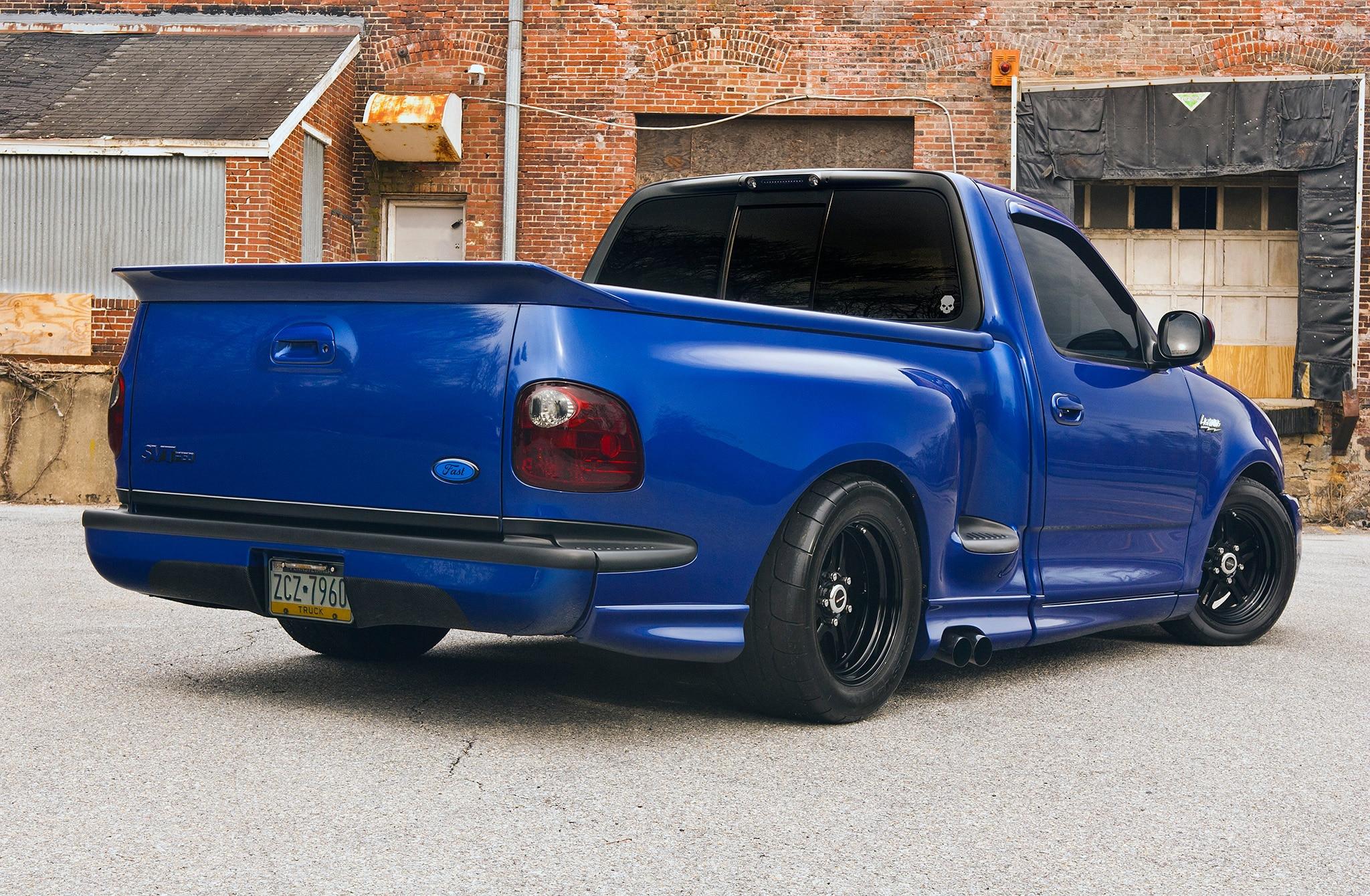 2003 Ford F 150 Svt Lightning Blue Rear Quarter