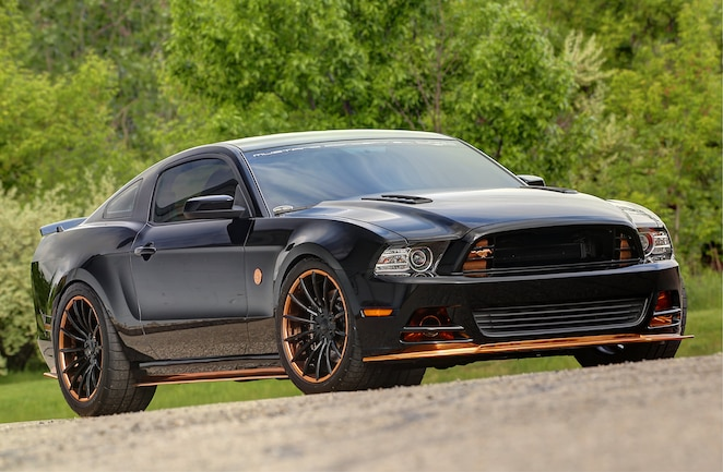 2014 Ford Mustang Black Front Quarter View