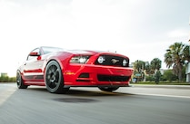 2014 Ford Mustang Steeda Red Q650 Low Front View
