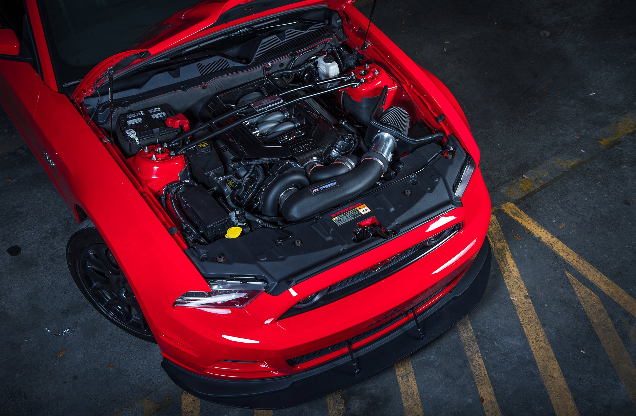 2014 Ford Mustang Steeda Red Q650 Overhead Engine