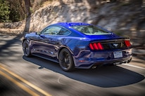 2015 Ford Mustang Ecoboost Rear Three Quarter In Motion 02