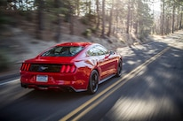 2015 Ford Mustang Ecoboost Rear Three Quarter In Motion 04