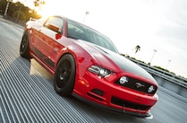 2014 Ford Mustang Steeda Red Q650 Quarter View