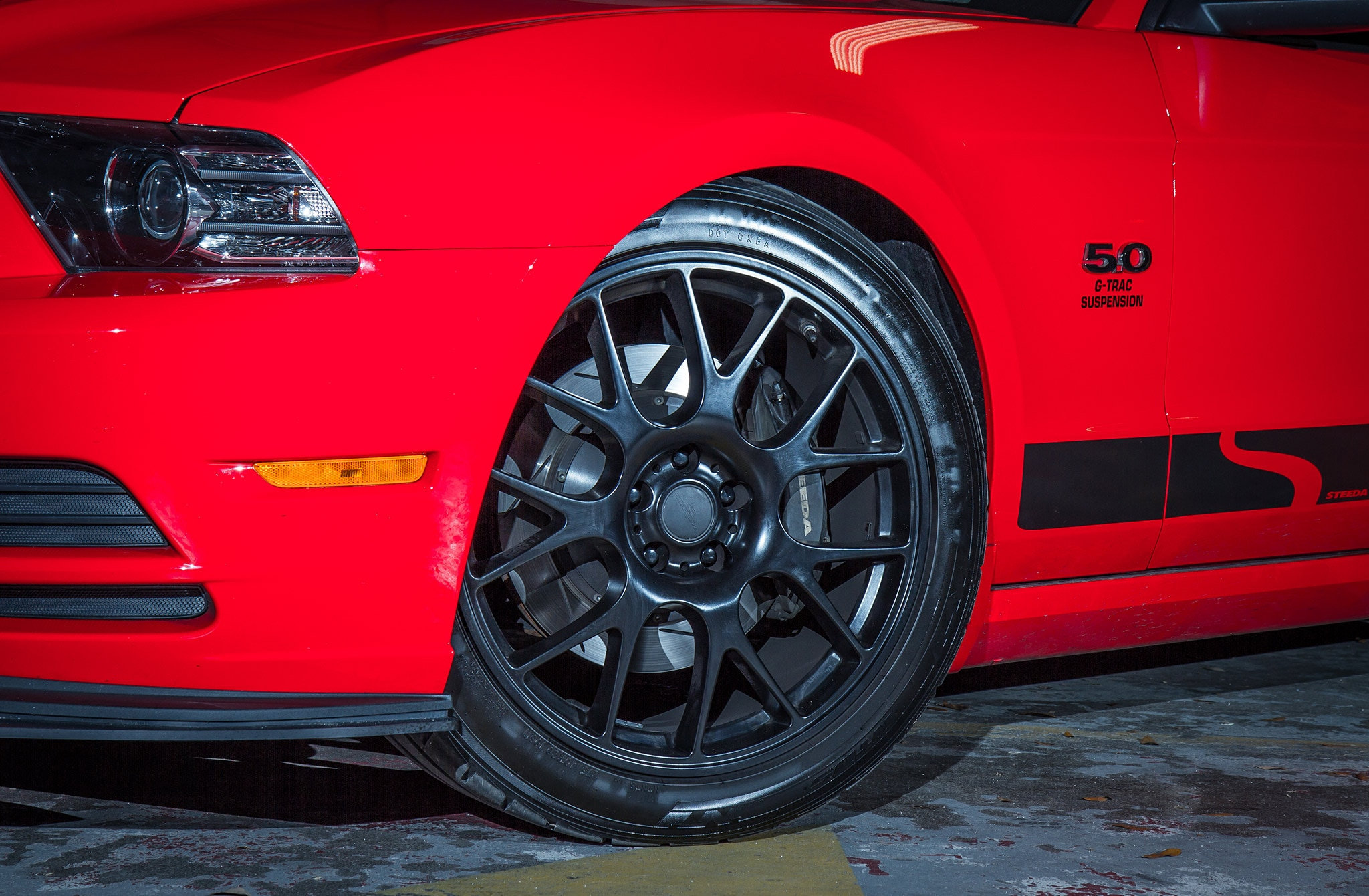 2014 Ford Mustang Steeda Red Q650 St R Wheel
