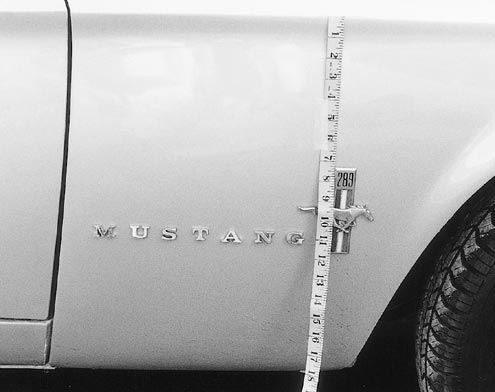 Mump 0106 83473z 1967 Ford Mustang Pin Lettering
