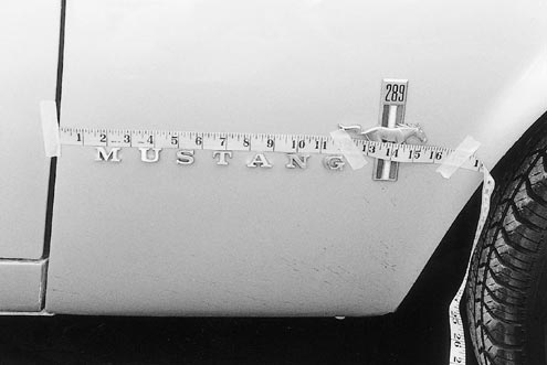 Mump 0106 83471z 1967 Ford Mustang Pin Lettering