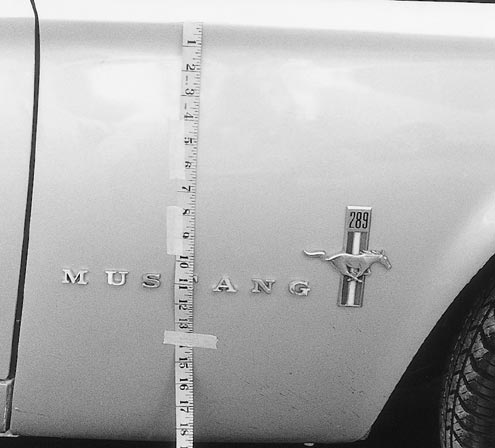 Mump 0106 83472z 1967 Ford Mustang Pin Lettering