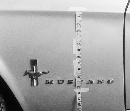 Mump 0106 83476z 1967 Ford Mustang Pin Lettering