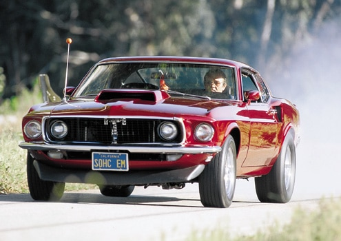1969 Ford Mustang Boss 429 Front End View
