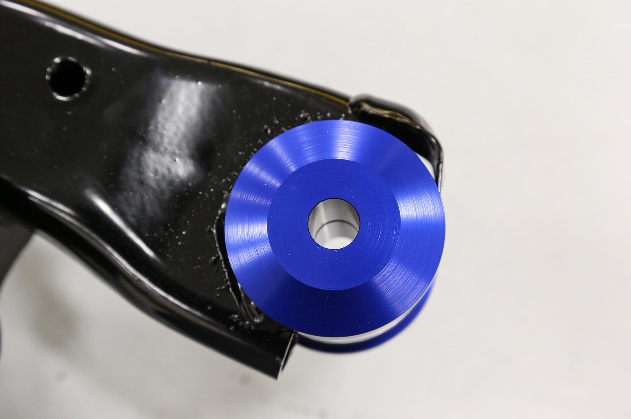 Upgraded Bushings Blue Anodized