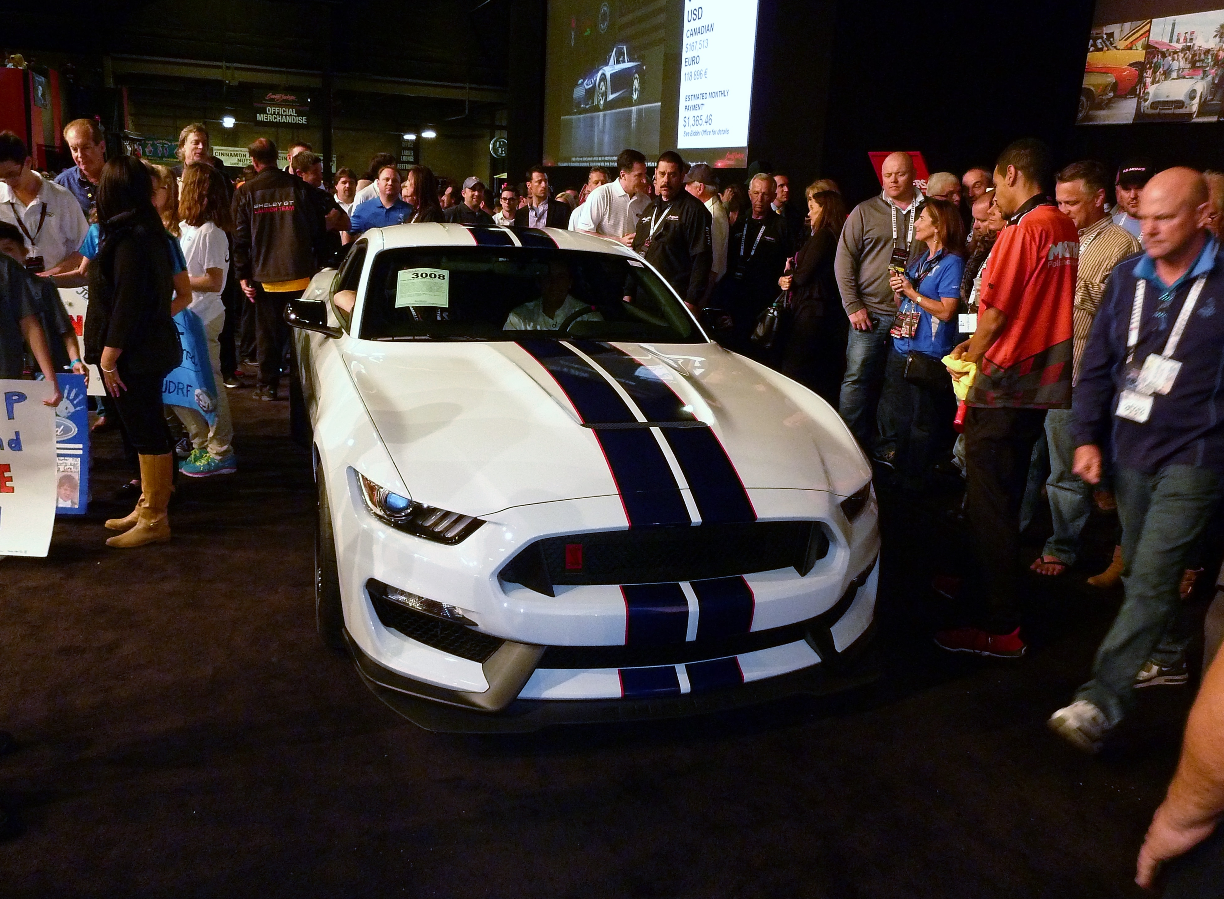 Ford Boss Fields Guides The GT350R Onto That World Famous B J Auction Block