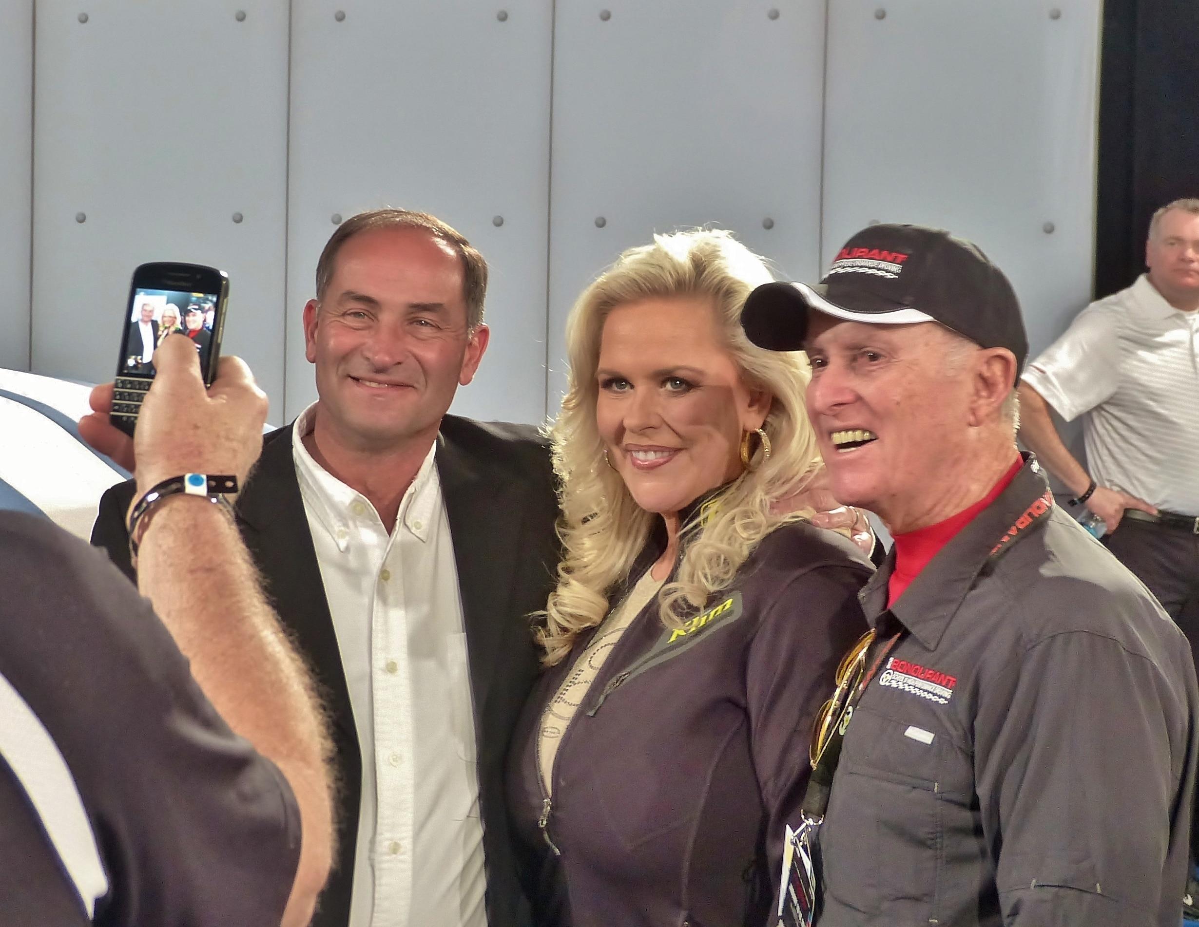 Gary Patterson With Patricia And Bob Bondurant