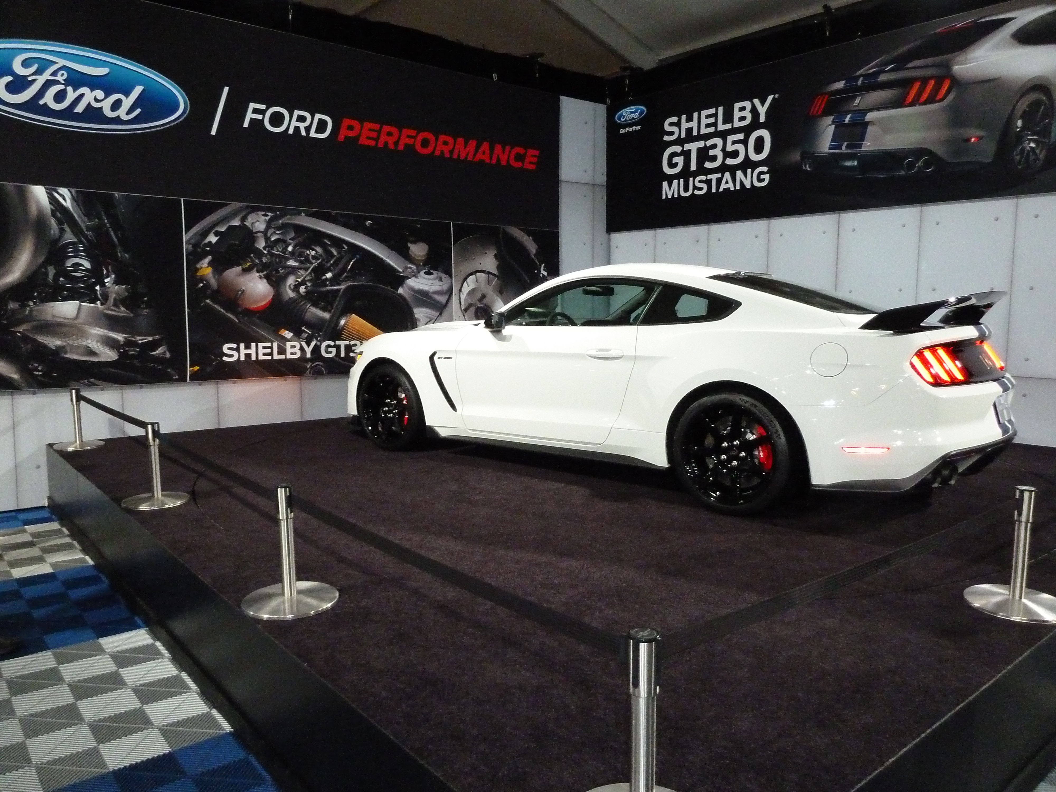 GT350 On Display In Ford Booth