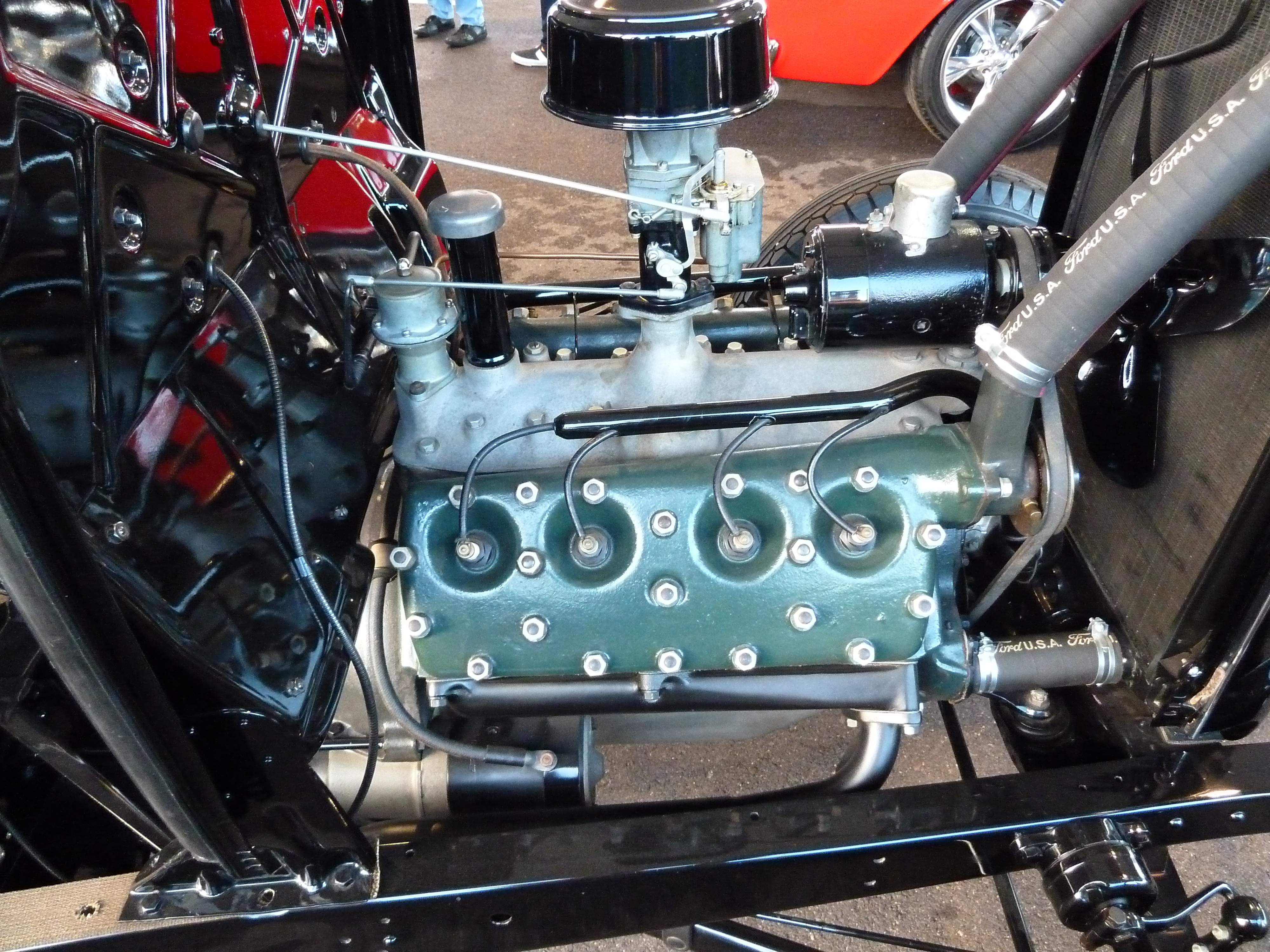 The 32 Show Chassis Perfectly Restored Stock 21 Stud Flathead V 8