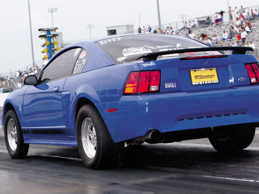 0310mm_32z Ford_Mustang_Mach_1 Rear_Drivers_Side_View_At_Track