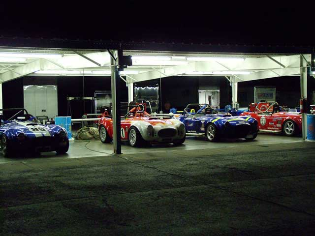 Factory Five Cobra Replicas Front Garage Night