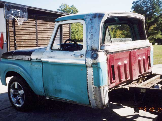 1966 Ford F100 Lightning Stripped Side View