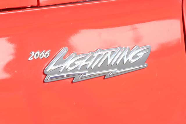 1966 Ford F100 Lightning Fender Emblem