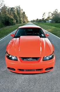 2004 Ford Mustang Cobra Front View Hood
