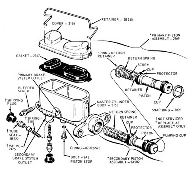 51 Ford Master Cylinder Diagram