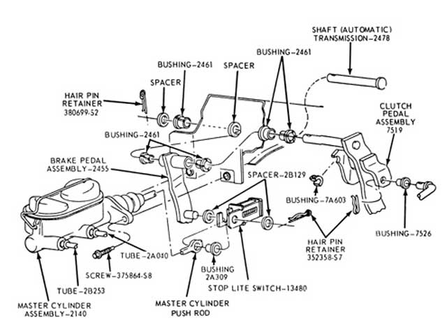 all about ford brake systems mustang monthly magazine Ford Brake System Diagram