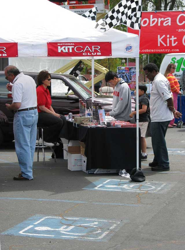 Knotts Kit Car Show National Kit Car Club Tent