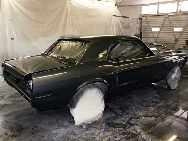 1968 Ford Mustang Auto Air Colors Paint Job After Clearcoat