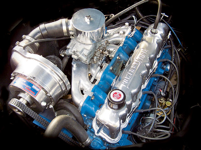 Six Cylinder Performance Supercharged Engine View