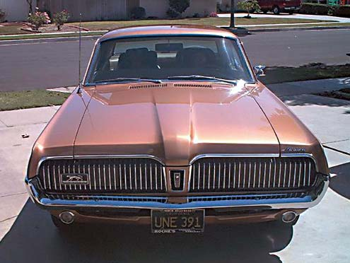 1967 Mercury Cougar Standard Front End View