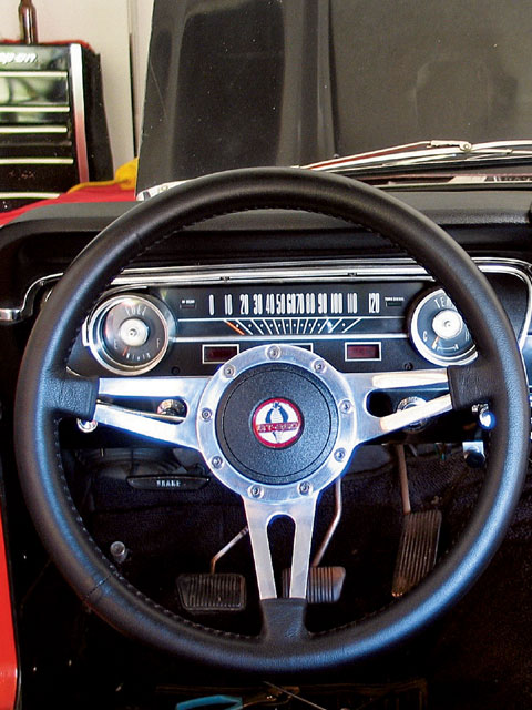 Ford Gauges Steering Wheel View
