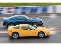 Corvette C6 and Roush Stage 3 Shootout - Muscle Mustangs