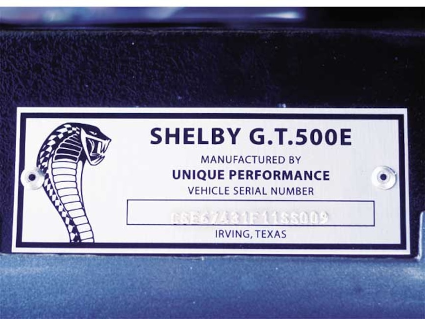 173_0409_17z 1967_Ford_Mustang_GT500E Shelby_Serial_Number