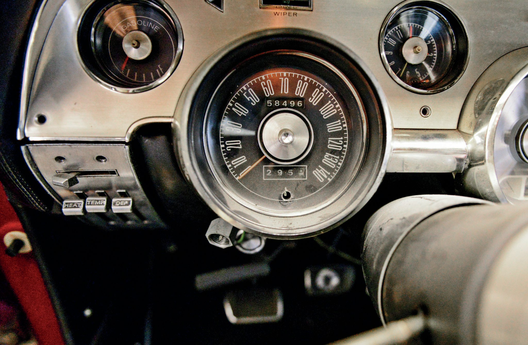 1967 shelby gt 500 ford mustang interior speedometer