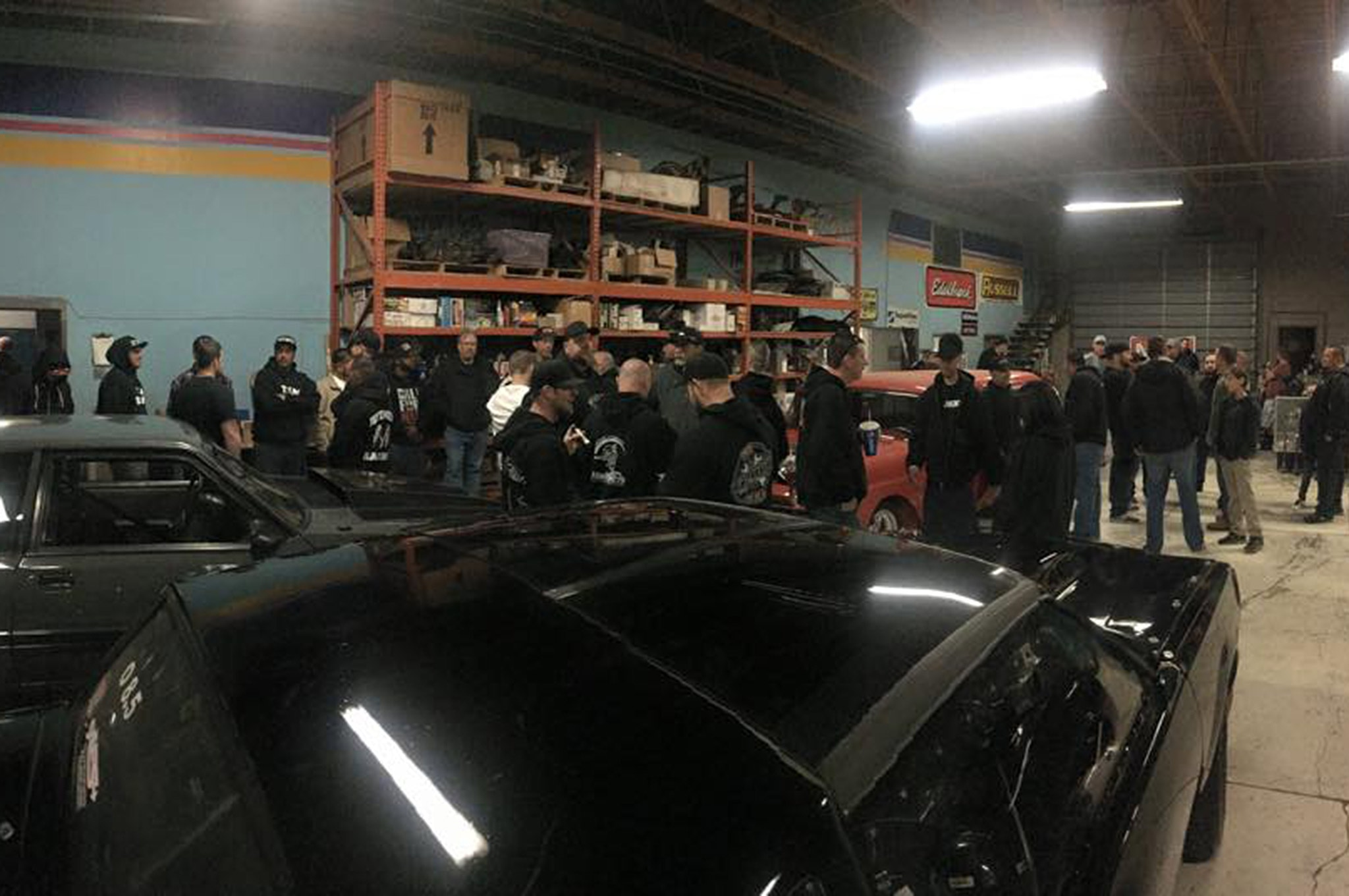 West Coast Street Outlaws Preparing To Film Race Garage