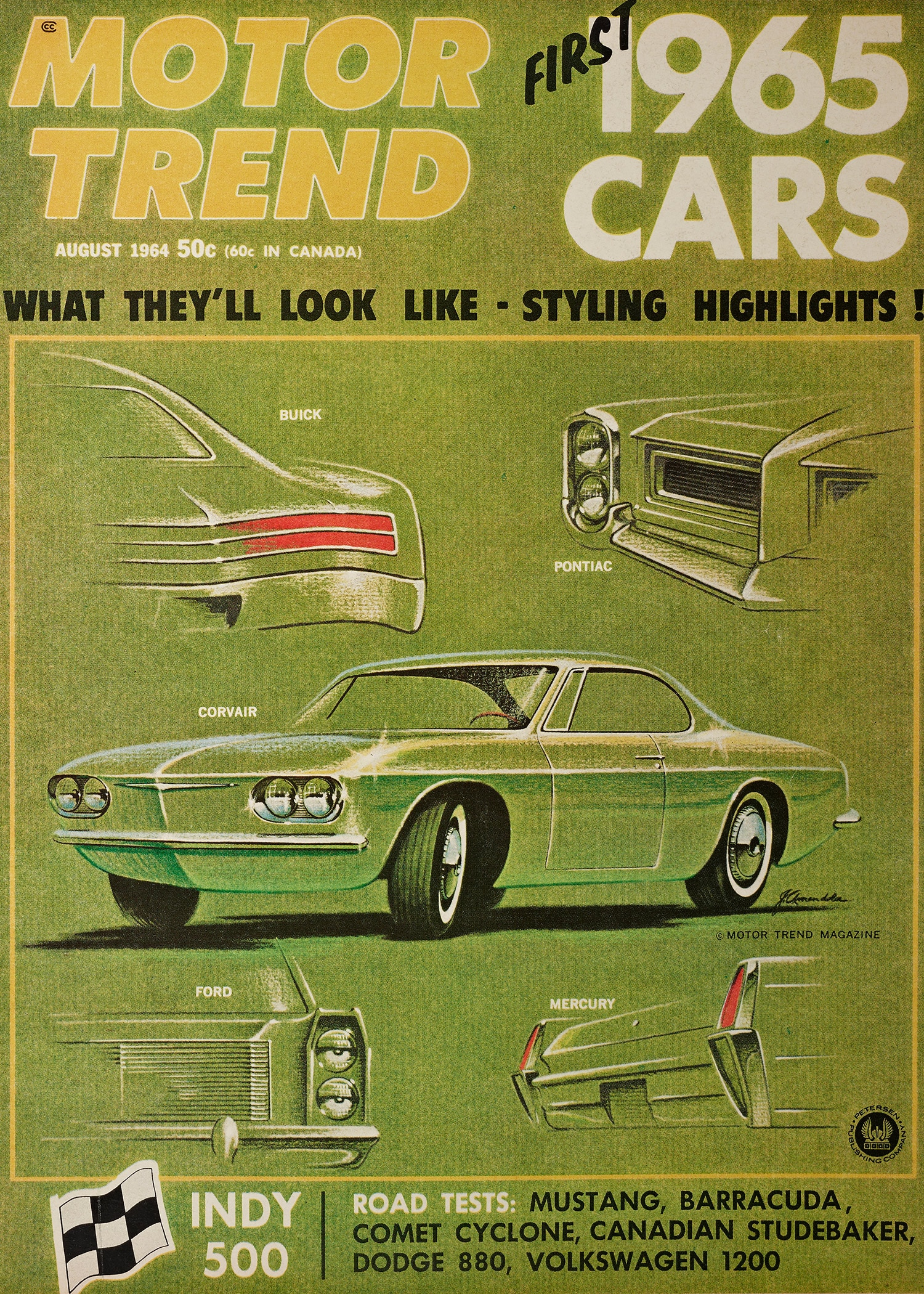 August 1964 Motor Trend Mustang Road Test Cover