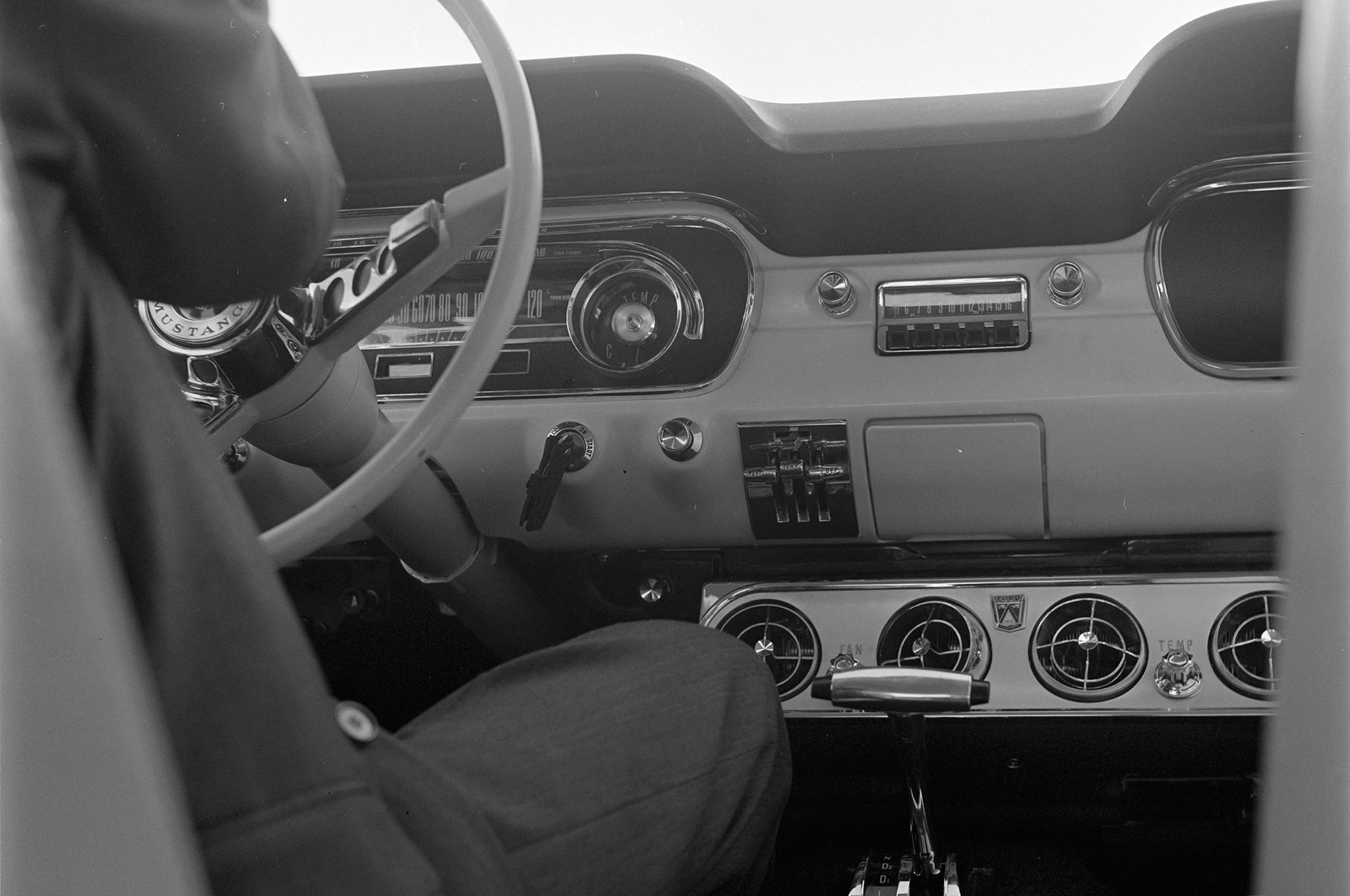 May 1964 Motor Trend Mustang Road Test Interior