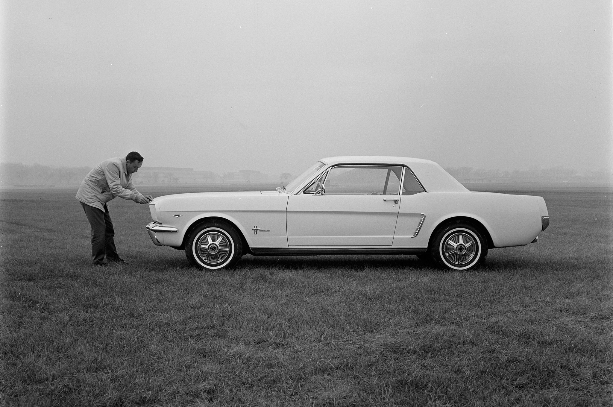 May 1964 Motor Trend Mustang Road Test Side View