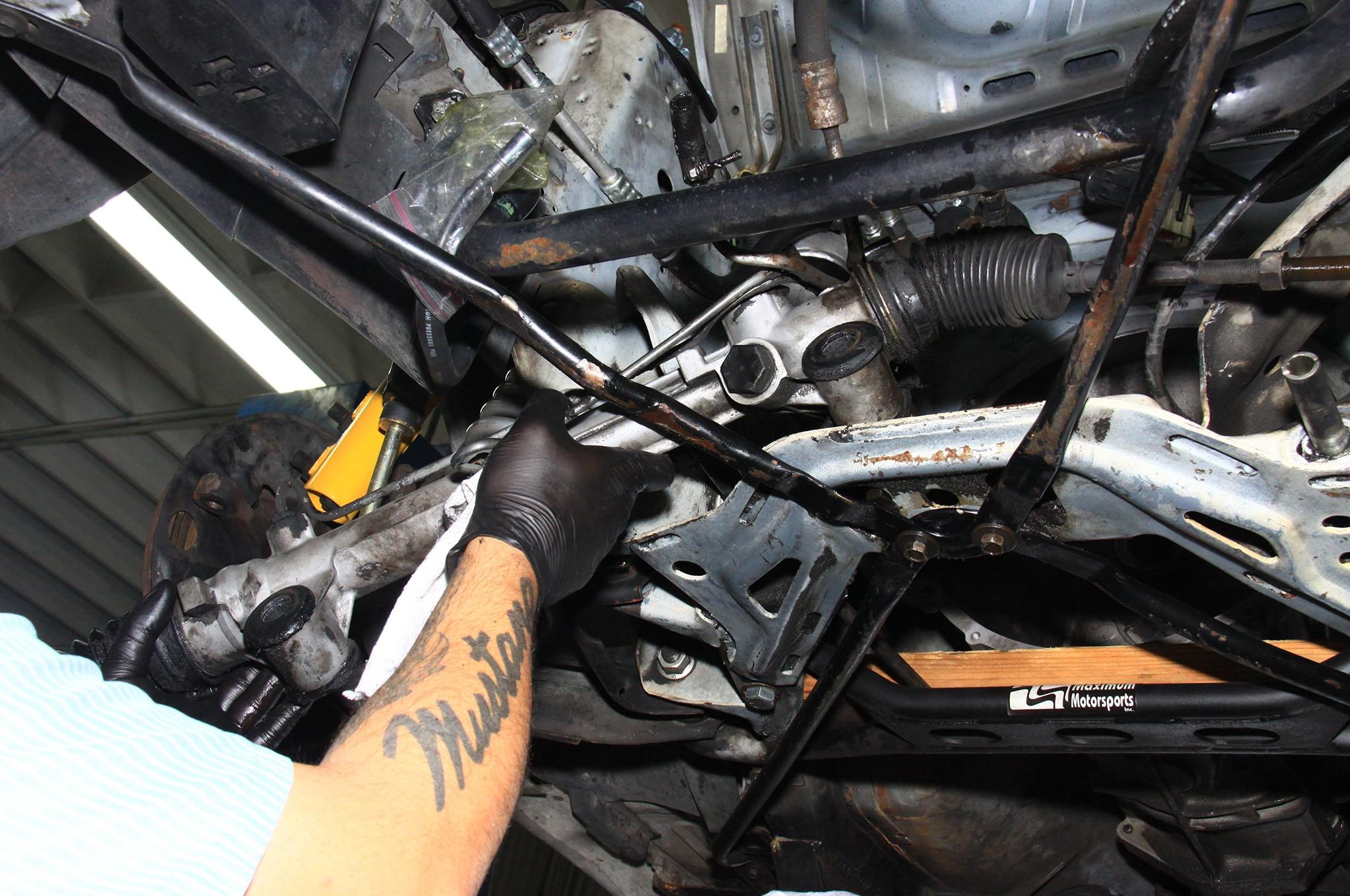 NPD Rack Install Fox Mustang Components
