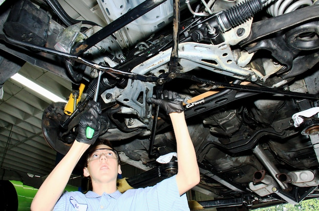 NPD Rack Install Fox Mustang Shop Hands
