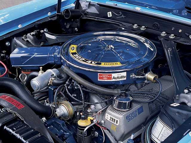 Mercury Cougar Boss 302 Engine Bay View