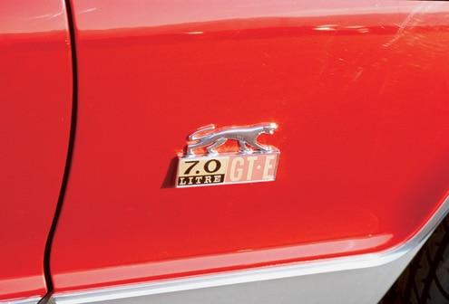 P175140 Large 1968 Mercury Cougar GTE Emblem