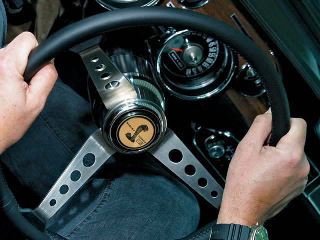Mump 0711 01 Z New Reproduction Shelby Steering Wheel Installed