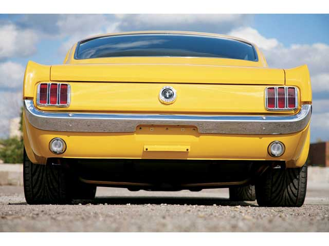 Mufp 0609 Sn65 16 Z 1965 Ford Mustang Fastback Rear View