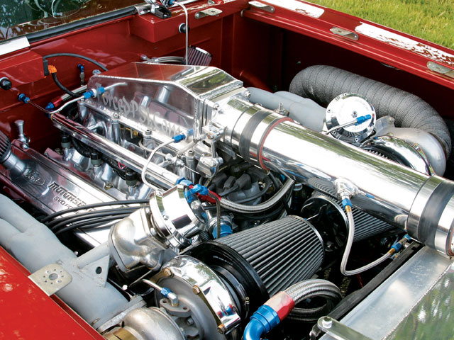 1963 Ford Falcon Engine View