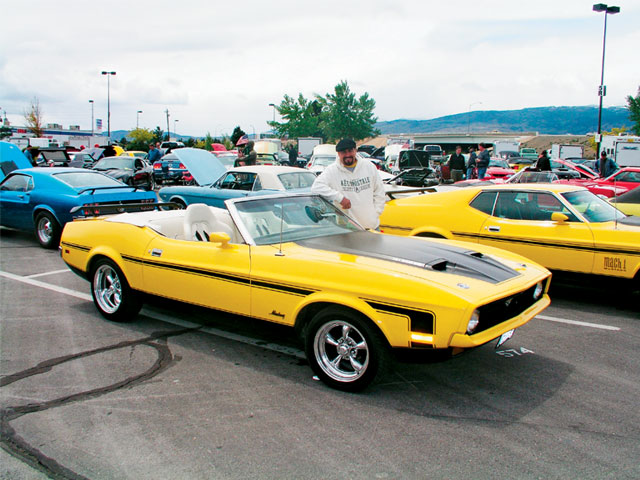 Restomods In Reno Yellow Mustang