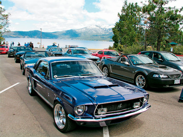 Restomods In Reno Blue Mustang