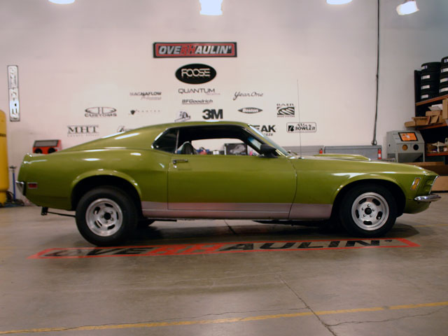 Behind The Scenes At Overhaulin The The 1970 Ford Mustang That Will Be Overhauled
