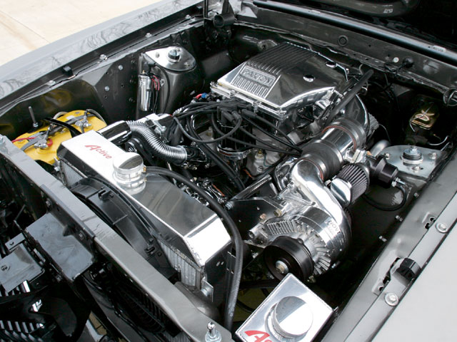 Ford Supercharger Engine Bay View